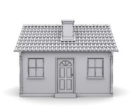 Frame house 3d model. Of a white Royalty Free Stock Images