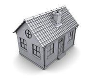 Frame house 3d model. Of a white Stock Image