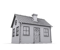 Frame house 3d model Stock Photos