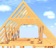Frame house. Stock Image