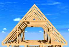 Frame house. Royalty Free Stock Image