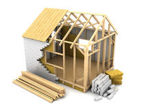 Frame house construction Royalty Free Stock Photography