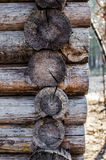 Frame. In house made with logs Royalty Free Stock Photo