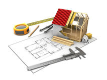 Frame house model Royalty Free Stock Images