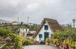 A-frame house, Santana, Madeira. Stock Images