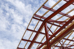 The frame of the house under construction. Object royalty free stock image