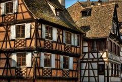Frame Houses HDR. August 2013, frame houses in Strasbourg (France), high dynamic range Stock Images
