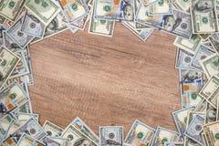 Frame of hundred dollar bills. Royalty Free Stock Images