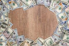 Frame of hundred dollar bills. Stock Images