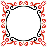 Frame with Hungarian motives decoration Stock Image