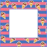 Frame Ice Cream vector illustration eps 10 Stock Photos