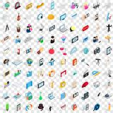 100 frame icons set, isometric 3d style. 100 frame icons set in isometric 3d style for any design vector illustration Royalty Free Stock Images