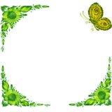 Frame. Illustration of frame in Ukrainian folk style royalty free illustration