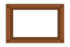 Frame illustration. Vector illustration of a brown frame Stock Images