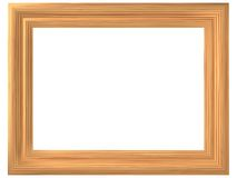 Frame with imitation of wood. The three-dimensional, cartoon image of a framework for images with imitation of its material under wood Vector Illustration