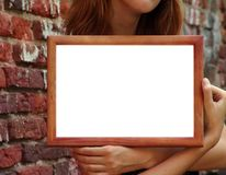 Frame In Hands Stock Images