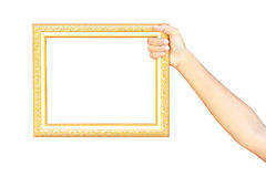 Frame In Hands Isolated On White Background Stock Images