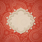 Frame in the Indian style Royalty Free Stock Images