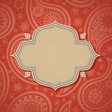 Frame in the Indian style royalty free illustration
