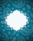 Frame in the Indian style Royalty Free Stock Photos