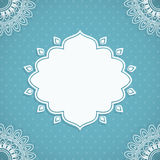 Frame in Indian style Stock Photography