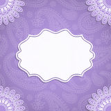 Frame in Indian style Royalty Free Stock Images