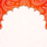 Frame in the Indian style Royalty Free Stock Image