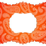 Frame in the Indian style Stock Photography