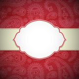 Frame in the Indian style Stock Images