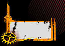 Frame industrial preto e alaranjado Fotografia de Stock Royalty Free