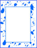 Frame with ink splatter. Frame with blue ink splatter/border Stock Photos