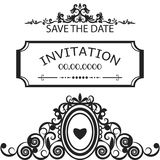 Frame for invitation, wedding, save the date vector. Frame for invitation, wedding, save the date Stock Photo
