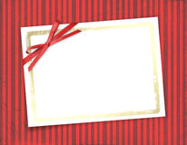 Frame for invitations. striped background. Stock Photo