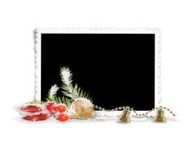 Frame isolado do Natal Foto de Stock Royalty Free