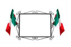 Frame italiano com bandeiras Imagens de Stock