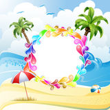 Frame with jelly shapes Royalty Free Stock Images