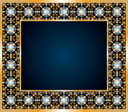 Frame from jewels Royalty Free Stock Photography