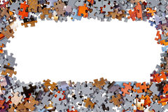 Frame of Jigsaw Puzzle Pieces Stock Images