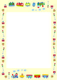 Frame for kids. Vector illustration of cute photo frame for kids and special occasions Royalty Free Stock Photo