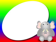 Frame for kids with elephant stock photos