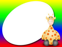 Frame for kids with giraffe Stock Photos