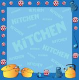 Frame with kitchen dishes Stock Photography