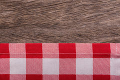 Frame of kitchen towels. On texture. Stock Photos