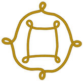 Frame from knot. Decorative frame from knot (isolated Royalty Free Stock Images