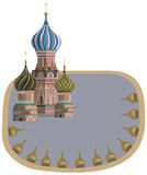 Frame with Kremlin Towers Stock Photo