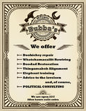 Frame and label for handyman services in retro style. Royalty Free Stock Photo