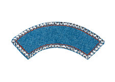 Frame, label made denim and rhinestones  with space for text Royalty Free Stock Photos