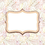 Frame labels on background with autumn leaves Royalty Free Stock Image