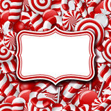 Frame labels on sweet background Stock Photo