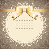 Frame with lace Royalty Free Stock Photos